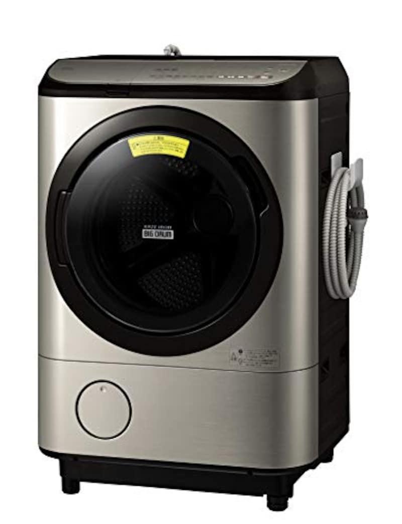 日立(HITACHI),ドラム式洗濯乾燥機 洗濯12kg/乾燥6kg ステンレスシャンパン ビッグドラム ,BD-NX120EL N
