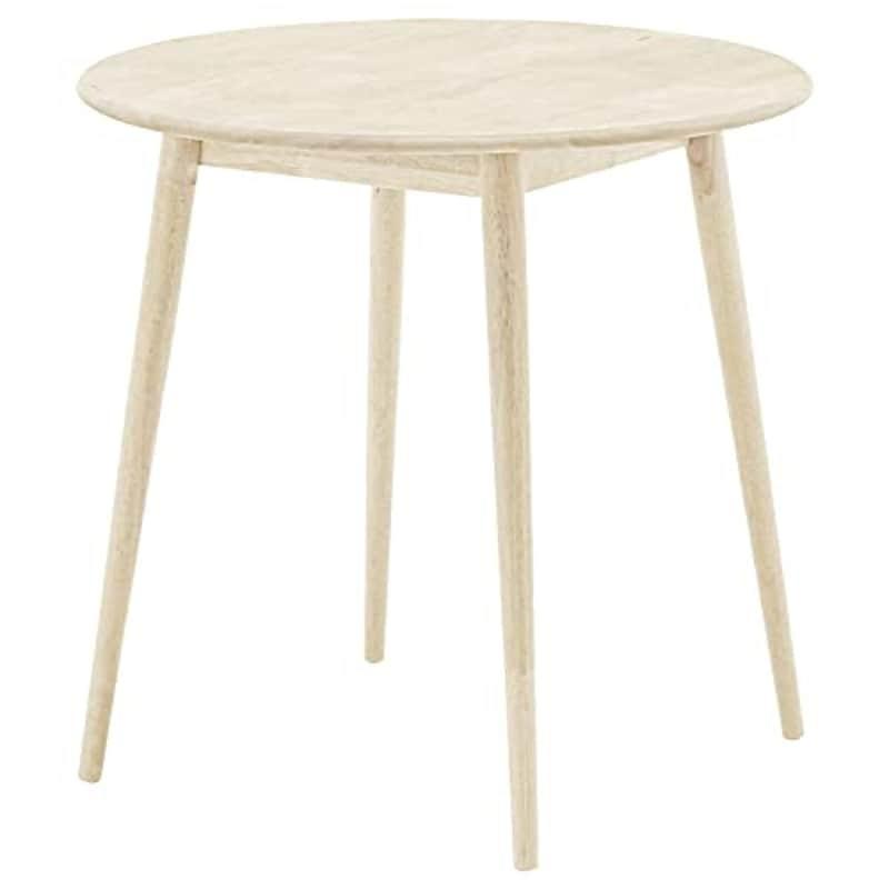 Modern Deco(モダンデコ),天然ラバーウッド製 ラウンドダイニングテーブル,detb01-wh
