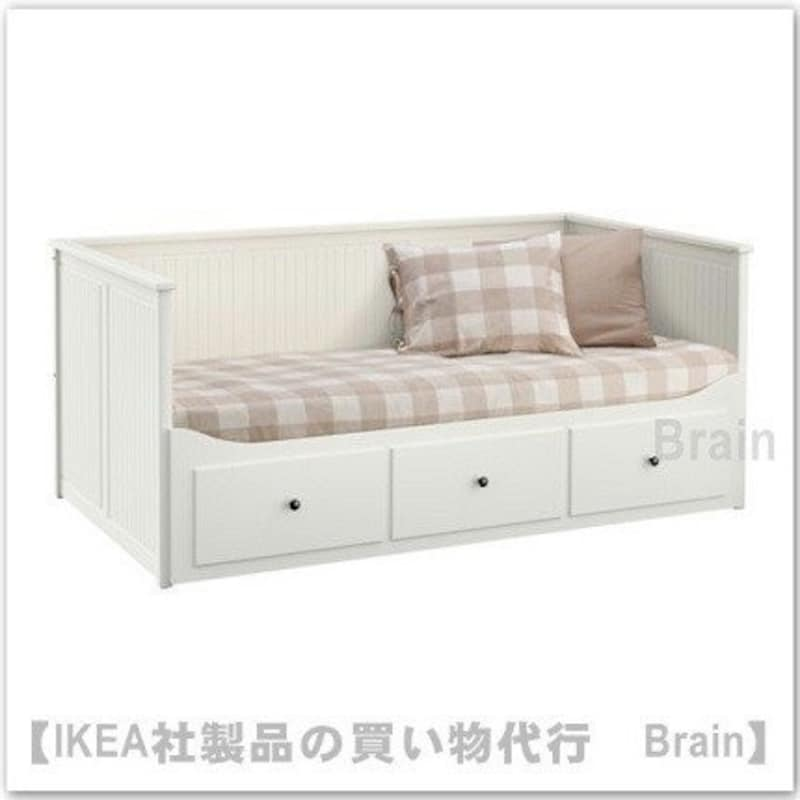 IKEA(イケア),ヘムネス デイベッドフレームすのこ付き ホワイト