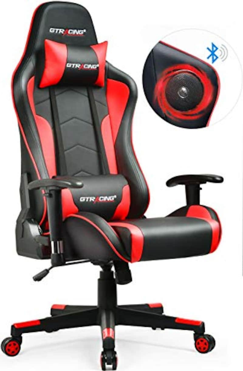 GTRACING(ジーティーレーシング),ゲーミングチェア スピーカー付き,GT890Y-RED-1
