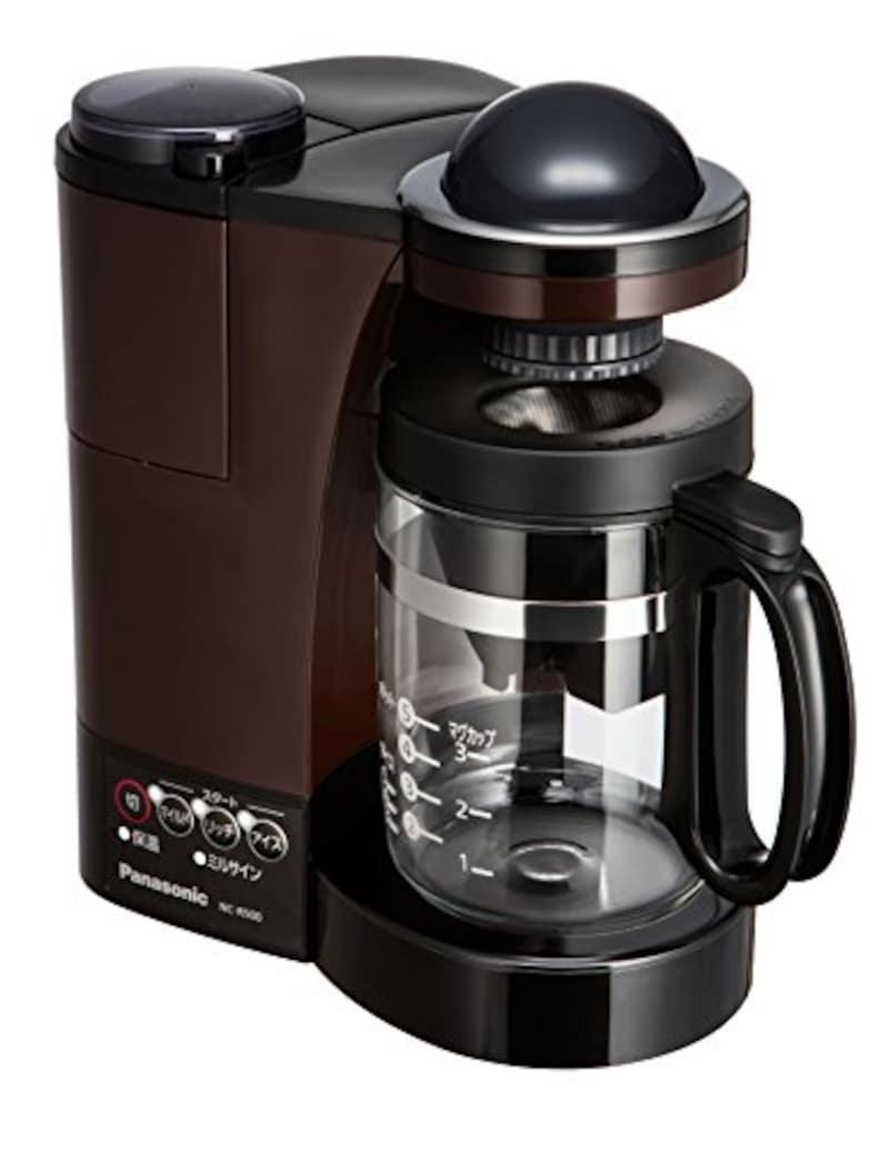 パナソニック(Panasonic),コーヒーメーカー ミル付き ステンレスフィルター付き,NC-R500-T