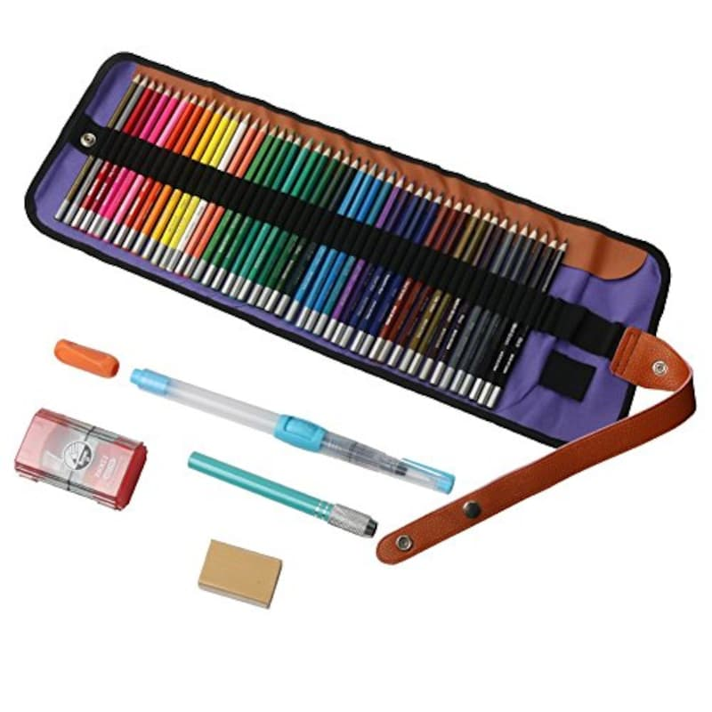 火星文具,48色水彩色鉛筆 水筆付き