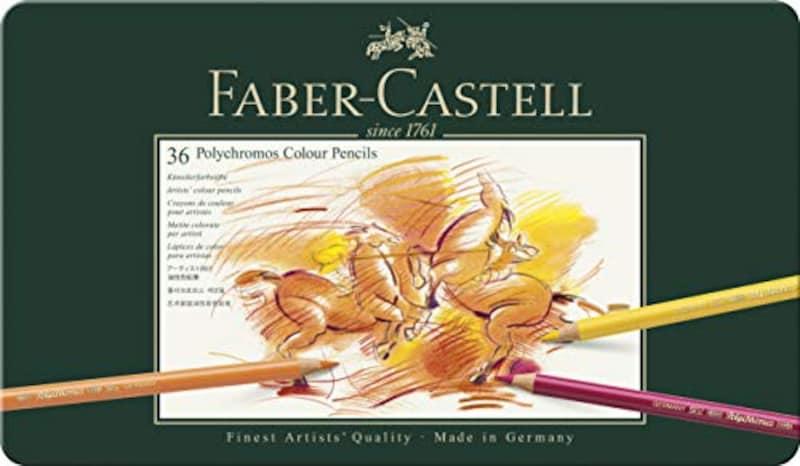 ファーバーカステル(FABER-CASTELL),ポリクロモス色鉛筆 36色 缶入,110036
