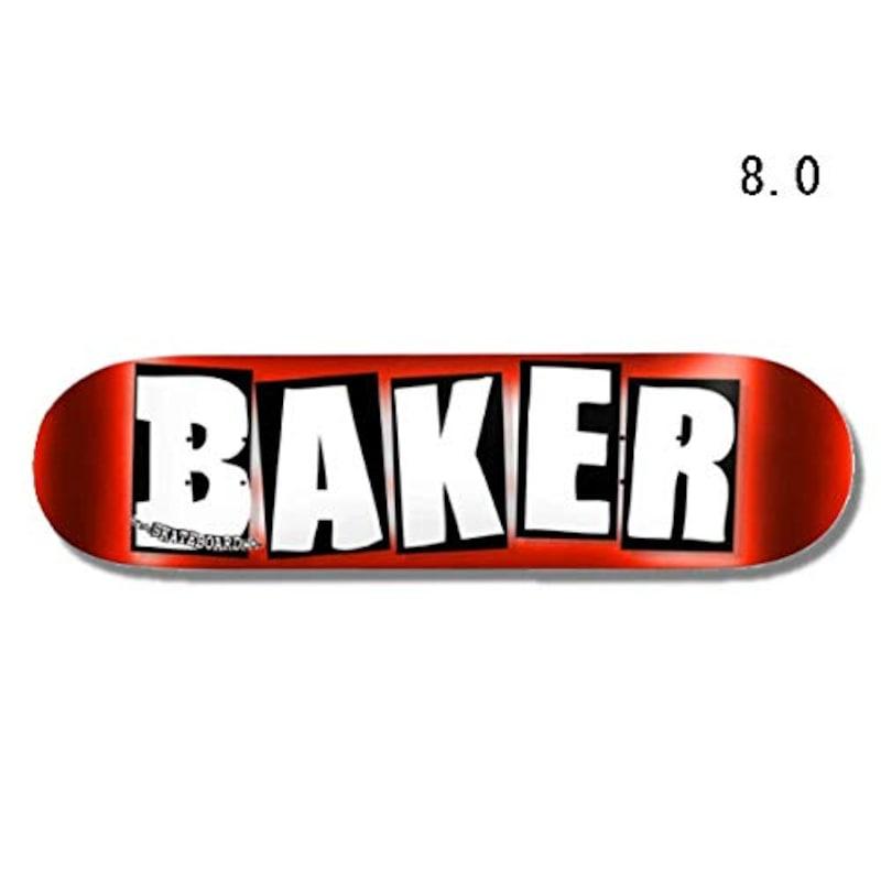BAKER(ベーカー), BRAND LOGO RED FOIL 8.0