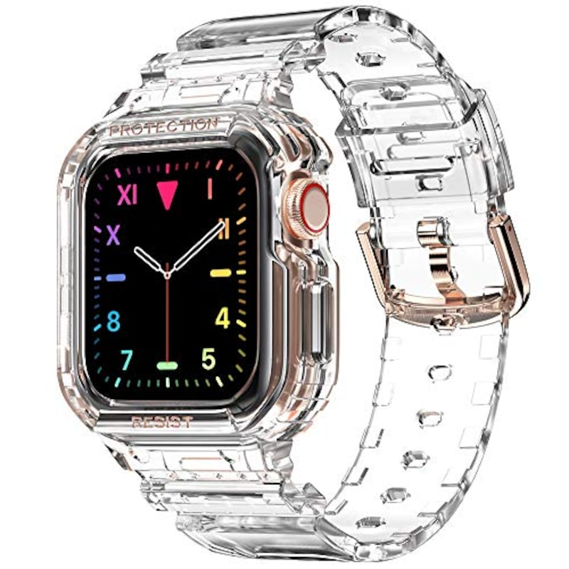 amBand(アムバンド) ,Apple Watch用バンド,Casio-38/40-Clear