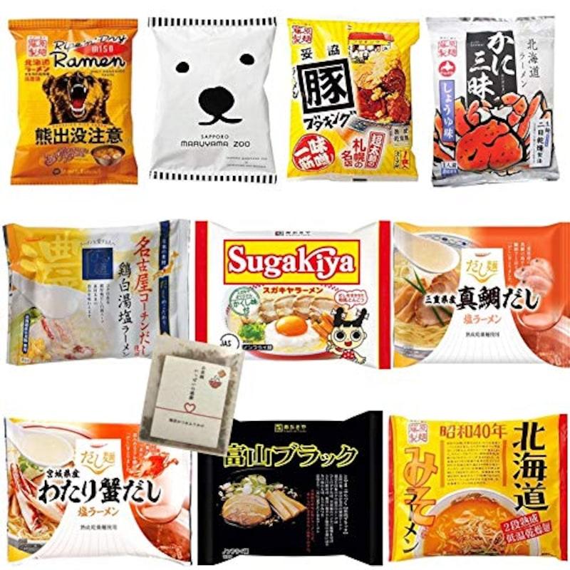 藤原製麺/国分/寿がきや/あおは,全国ご当地インスタントラーメン  10食
