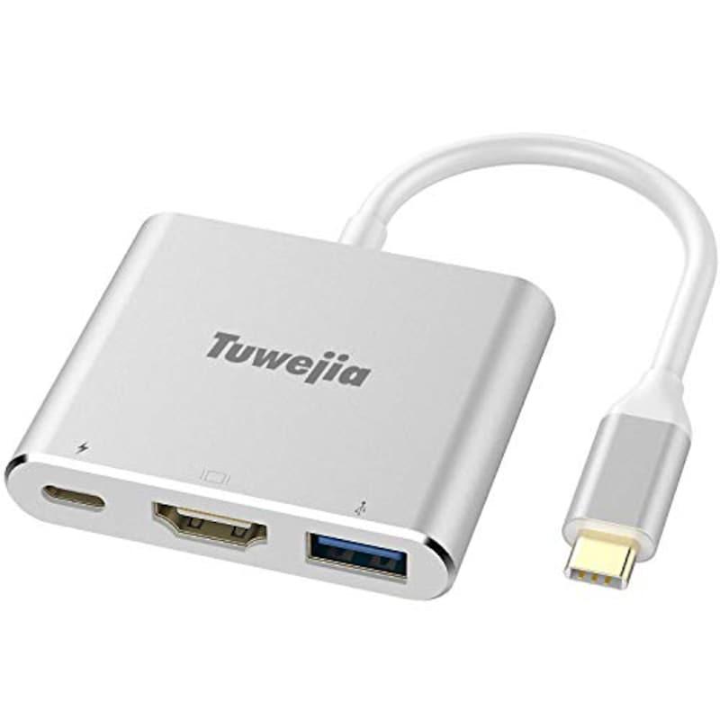 Tuwejia,3-in-1 USB Type-c アダプター,TWJ31