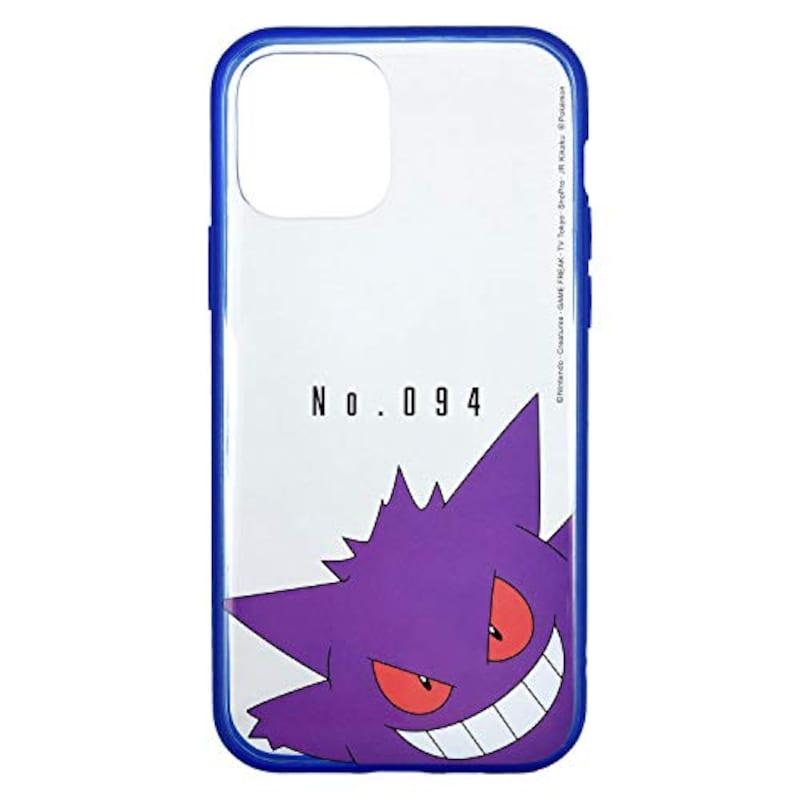グルマンディーズ,ポケットモンスター IIIIfit Clear iPhone12/12 Pro(6.1インチ)対応ケース ゲンガー,POKE-706C