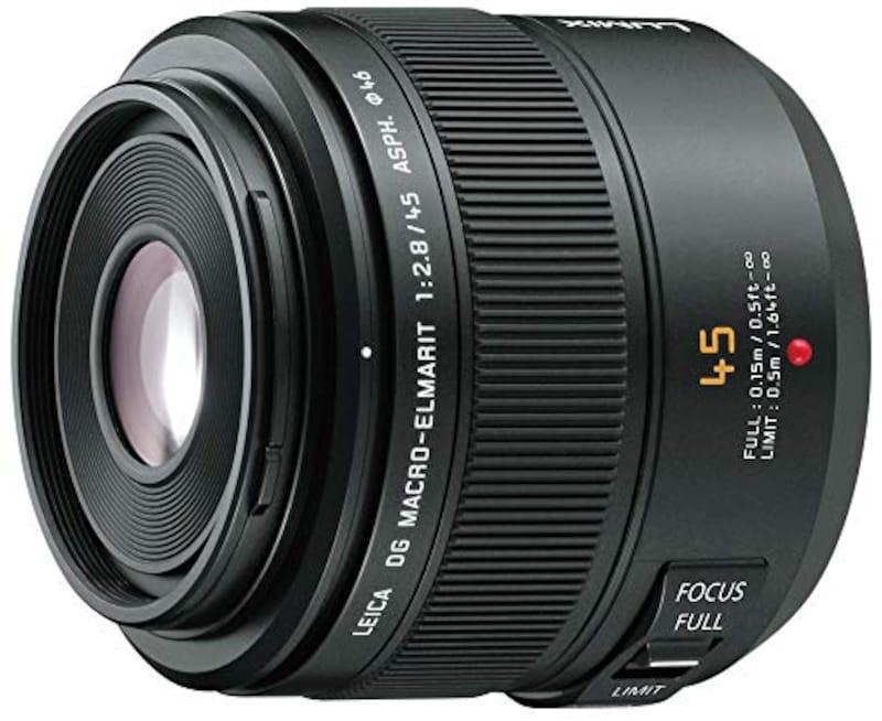 Panasonic(パナソニック),LEICA DG MACRO-ELMARIT 45mm/F2.8 ASPH/MEGA O.I.S.,H-ES045