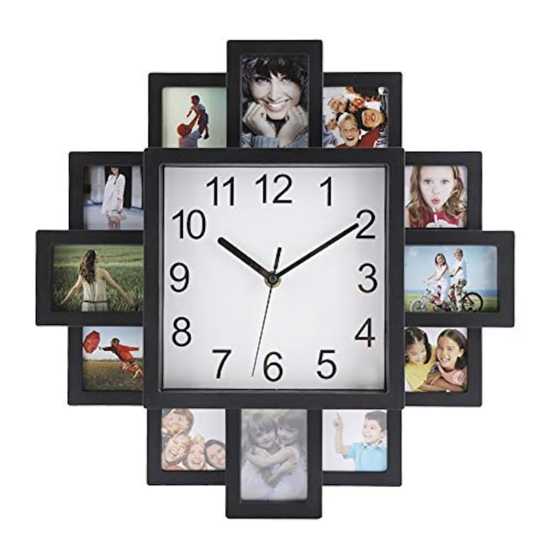 Wifehelper,フォトフレーム付掛け時計,mnk2301wsd
