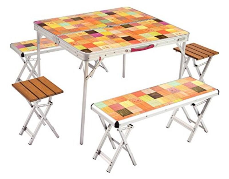 Coleman(コールマン),ナチュラルモザイクリビングテーブル