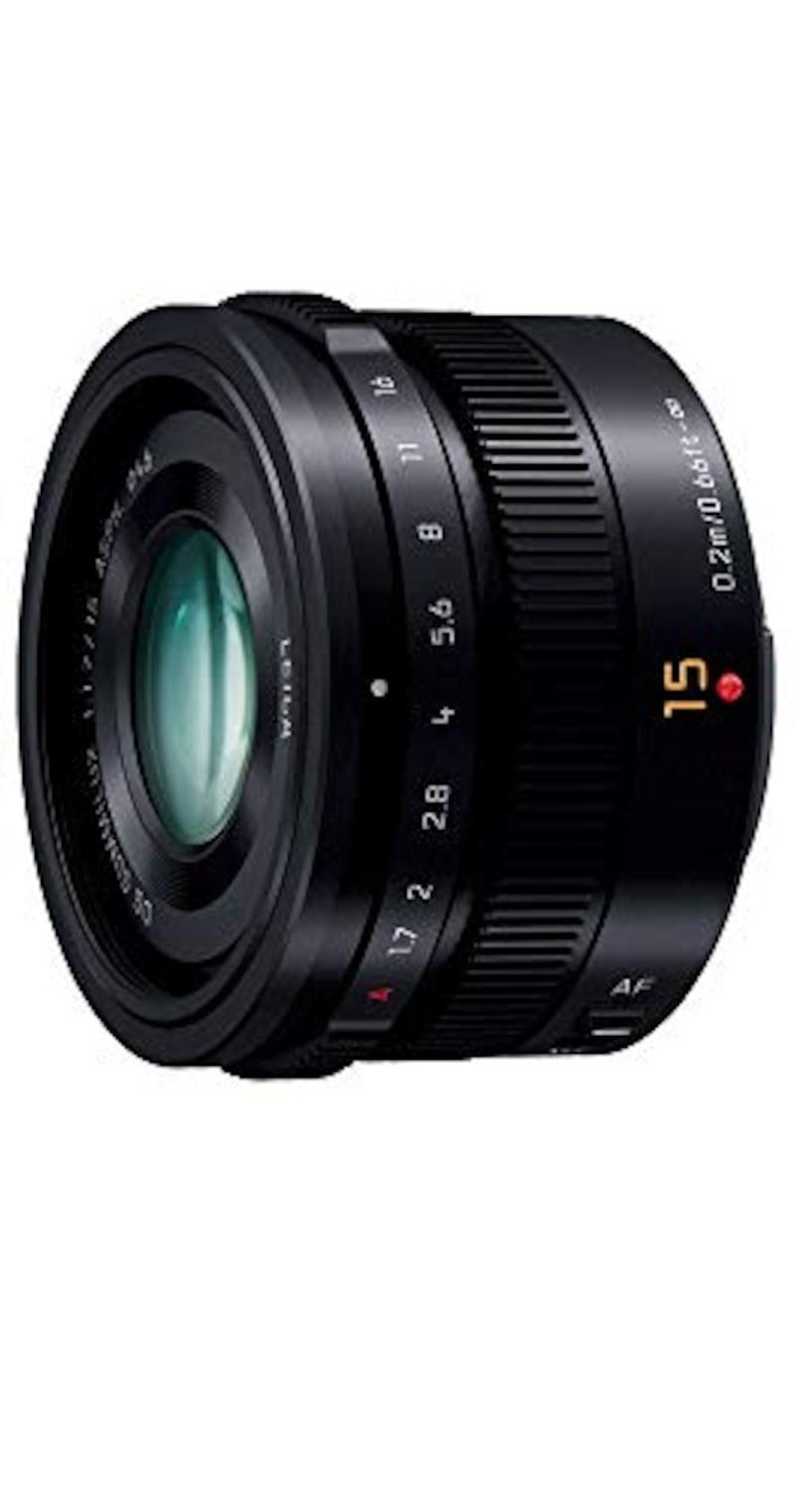 Panasonic,単焦点 広角レンズ マイクロフォーサーズ用 ライカ DG SUMMILUX 15mm/F1.7 ASPH. ブラック H-X015-K