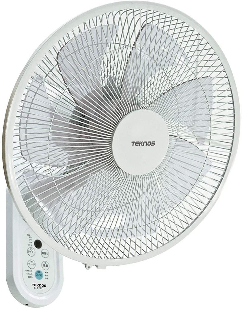 TEKNOS(テクノス),DC壁掛け扇風機,KI-DC367