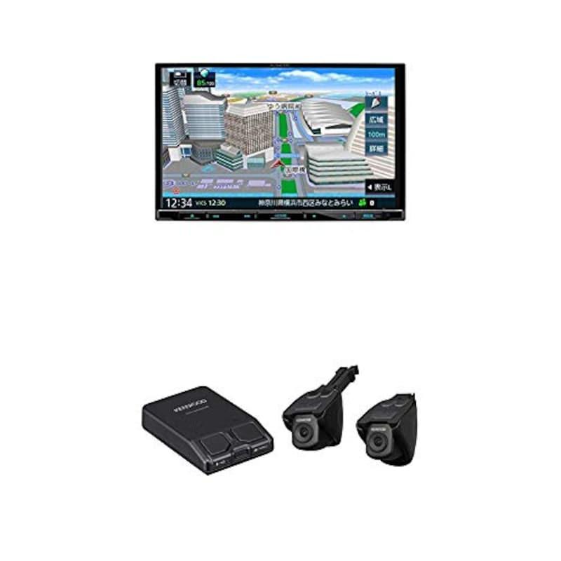 KENWOOD(ケンウッド),彩速ナビ MDV-S708L&ドライブレコーダー DRV-MN940B