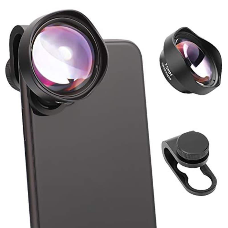 USKEYVISION,75mm スマートフォン用スーパーマクロレンズ,UVML-10X