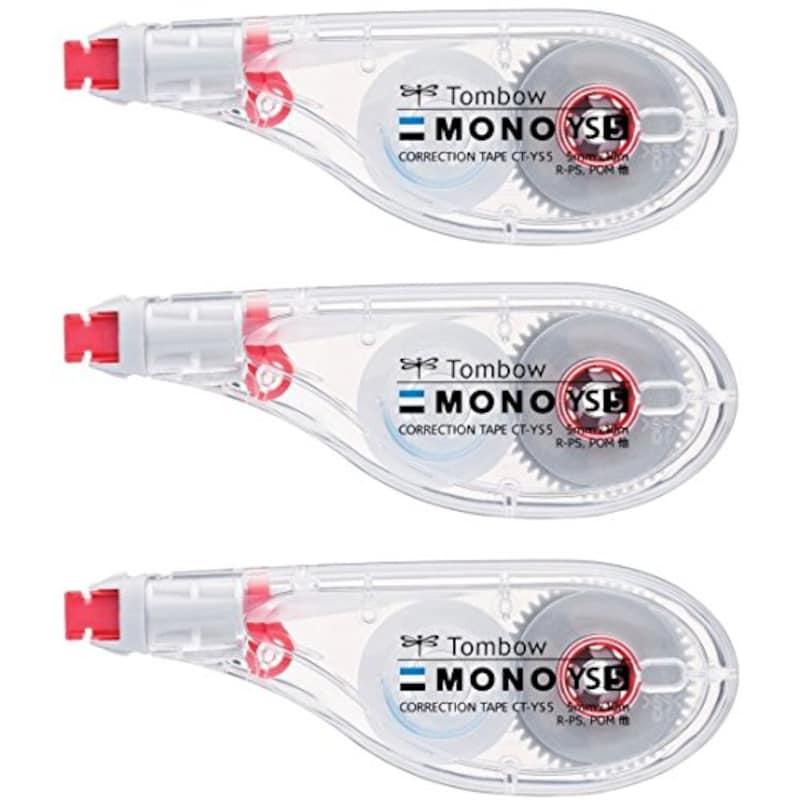 トンボ鉛筆,修正テープ MONO YS5 3個セット,KCA-326