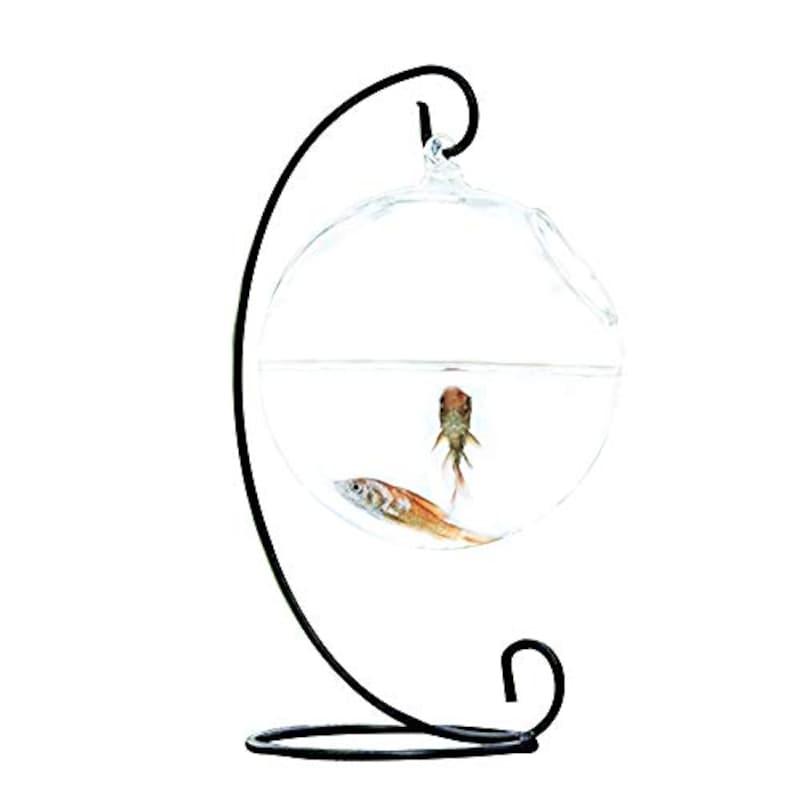 SHINA,創意的 ハンギング式,Fish Tank1-Black Stand