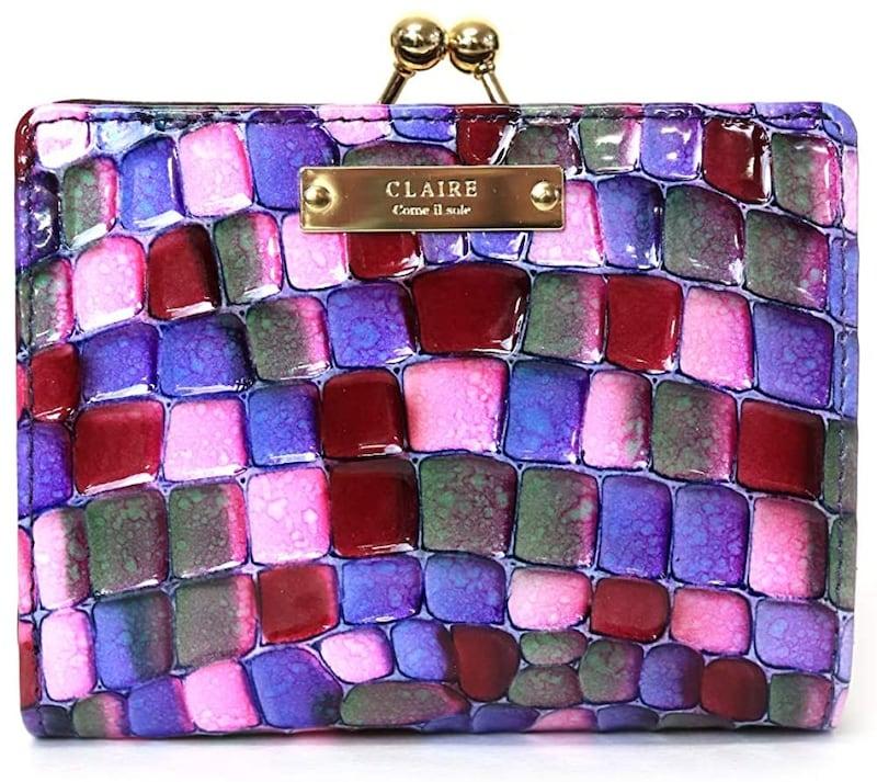 CLAIRE(クレア),ステンドグラスイタリアンレザーがま口財布,G31826004