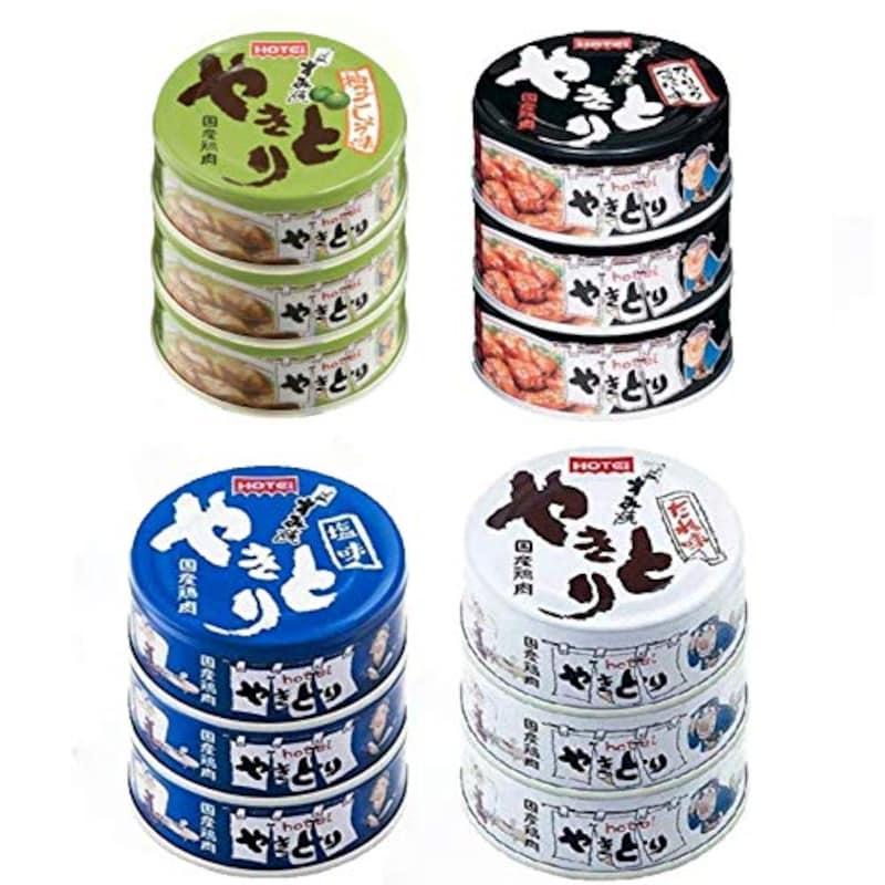 ホテイフーズコーポレーション,焼き鳥缶詰 4種12缶セット