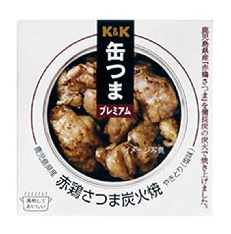 K&K,缶つまプレミアム 鹿児島県産 赤鶏さつま炭火焼き 75g×1