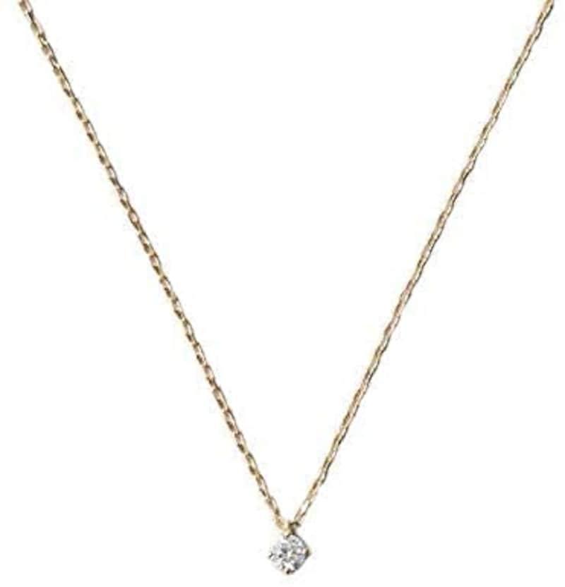 ete(エテ),ネックレス レディース レイヤー ダイヤモンド ピンクゴールド,760699