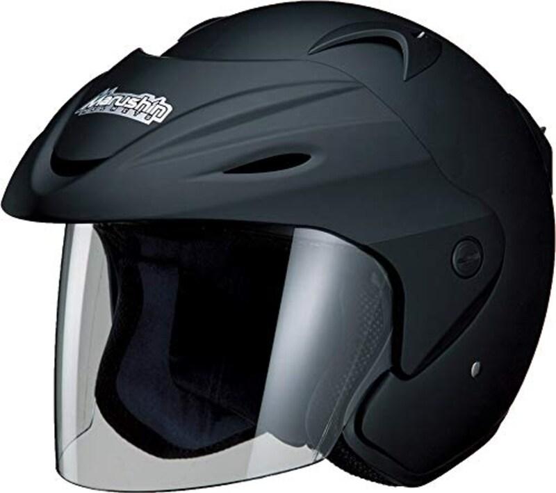 MARSHIN(マルシン),ジェットヘルメット バイザー付き マットブラック,CAAABA_HDNL