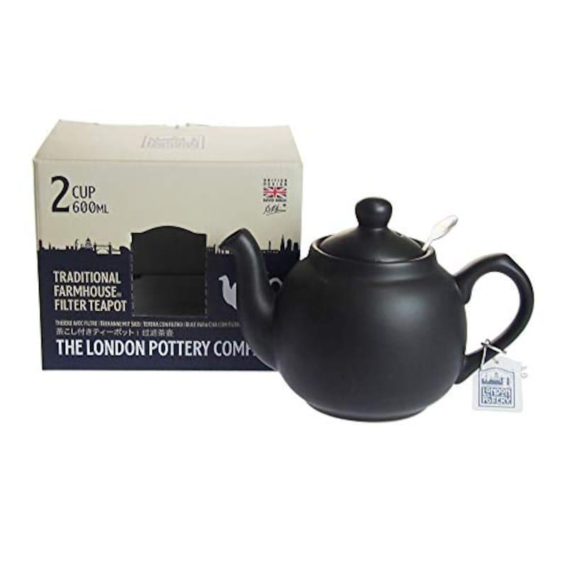 THE LONDON POTTERY COMPANY(ロンドンポタリー),ファームハウス ティーポット マットブラック 2cup