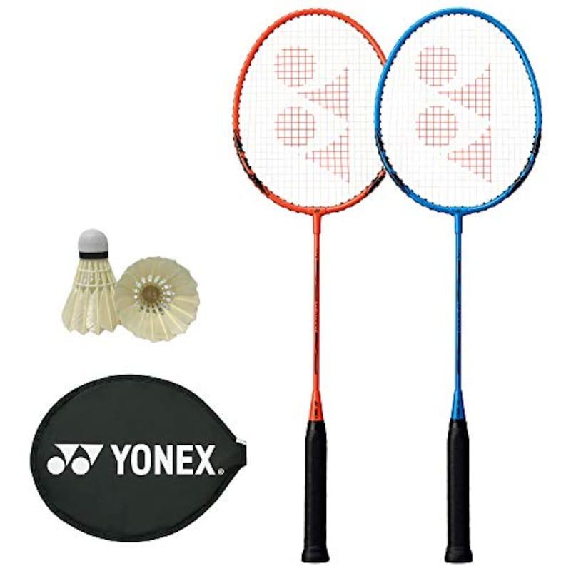 YONEX(ヨネックス),バドミントンラケット 2本セット シャトル付き