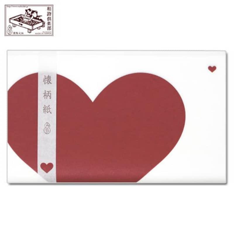 和詩倶楽部,懐柄紙 はーと 30枚入り,KG-018