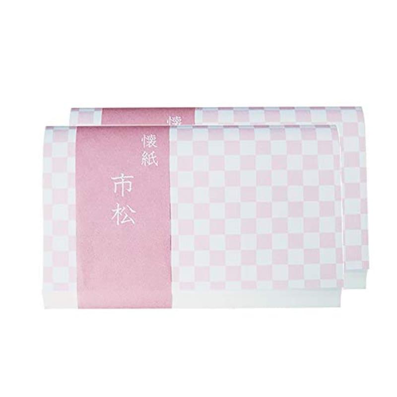 こころ懐紙本舗,懐紙 市松 ピンク 2帖入