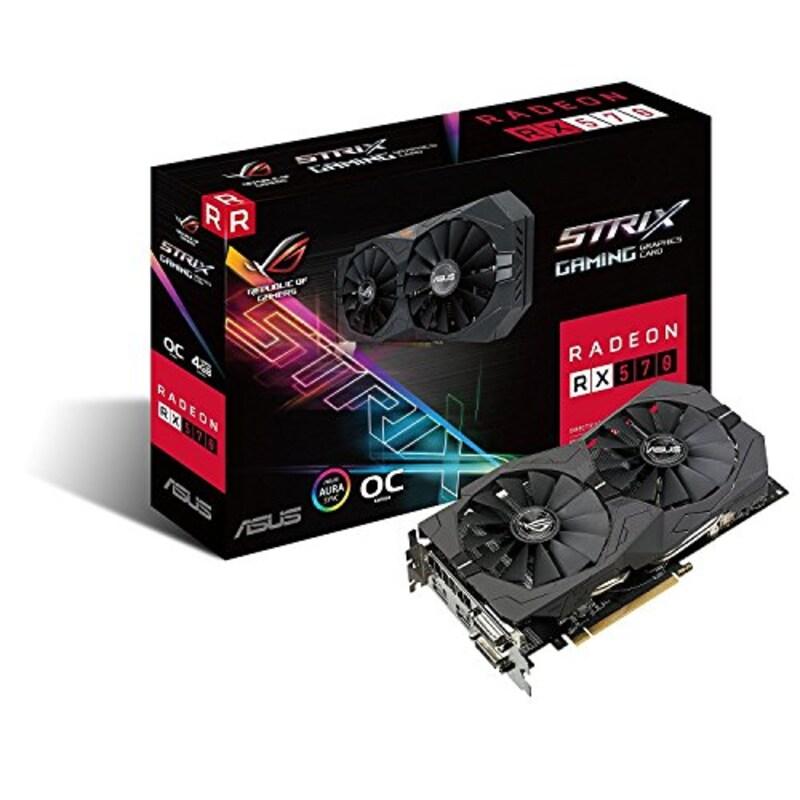 ASUS(エイスース),Radeon RX 570ビデオカード,ROG-STRIX-RX570-O4G-GAMING