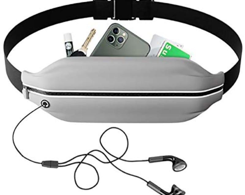IkucheL,ランニングポーチ  ウエストバッグ 大容量 防水 軽量
