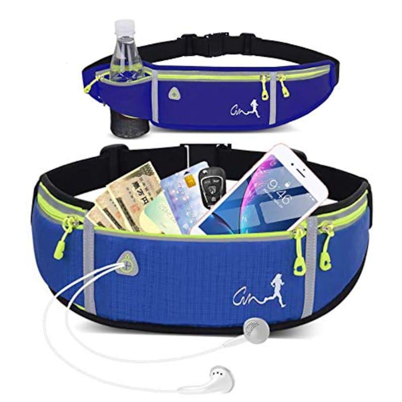 ICIICO,ランニング-ポーチ ウエストバッグ,Pocket-N500D-Blue