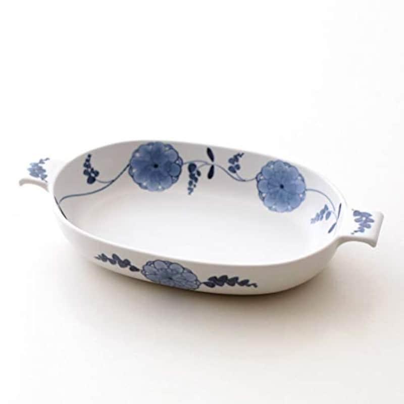 花唐草 オーバルグラタン皿