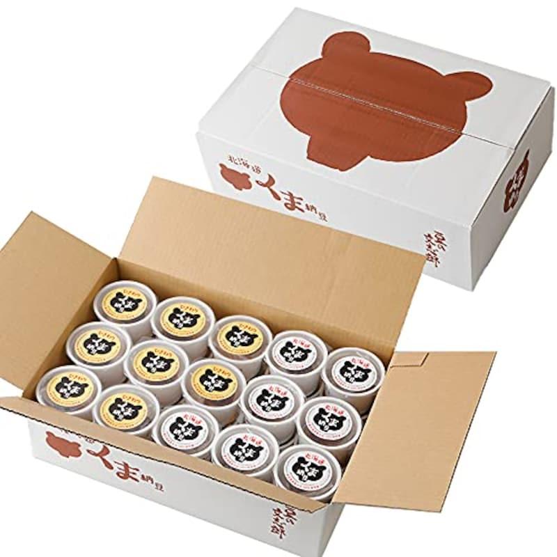 道南平塚食品,くま納豆 極小粒・ひきわりカップ
