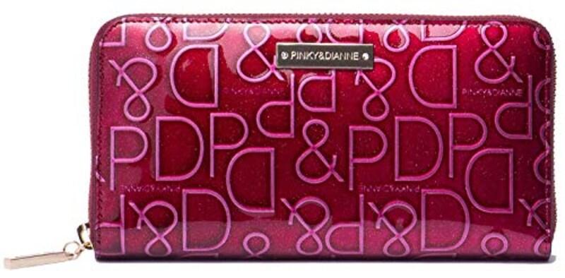 Pinky&Dianne,長財布 【ドルチェ】 エナメル ロゴ型押し,PDLW7GT4