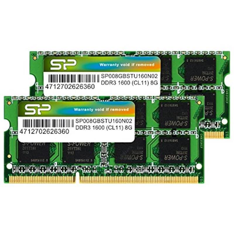 シリコンパワー,ノートPC用メモリ,SP016GBSTU160N22