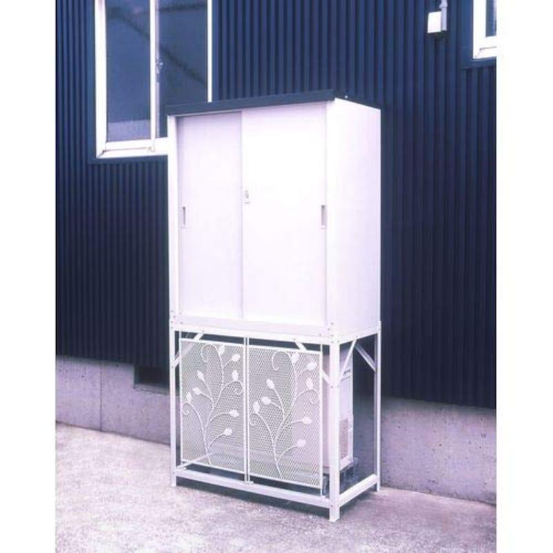 GREEN LIFE(グリーンライフ),エアコン室外機カバー収納庫セット,HS-92&AC-78MM