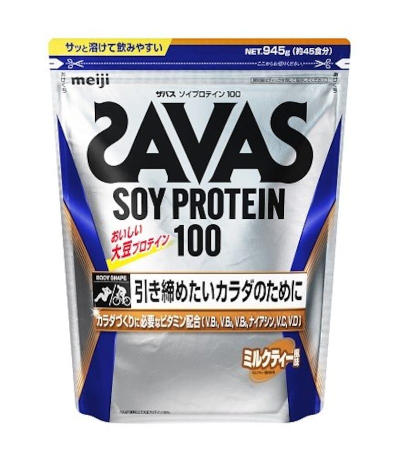 ザバス,ソイプロテイン100+ビタミン ミルクティー風味 945g