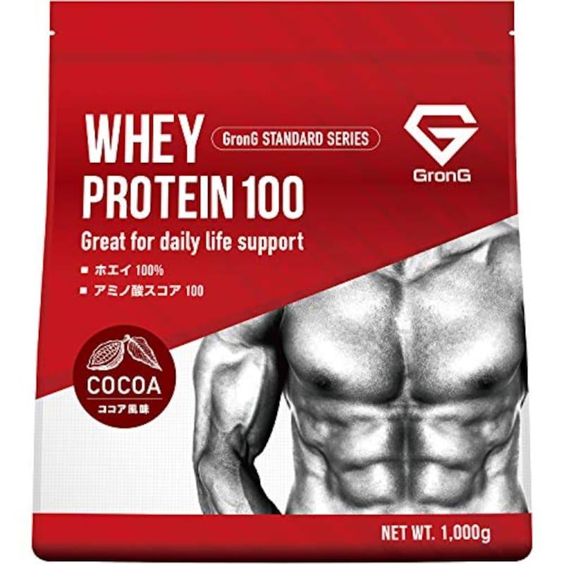 GronG(グロング),ホエイプロテイン100 ココア風味 1kg