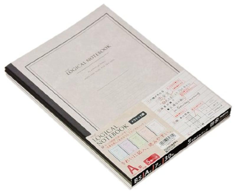 ナカバヤシ,ロジカルノート クラッシック B5 A罫 5冊,ノ-B507A-5P
