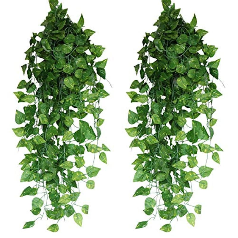 Xiaz ,工観葉植物 フェイクグリーン 24本入り アイビー