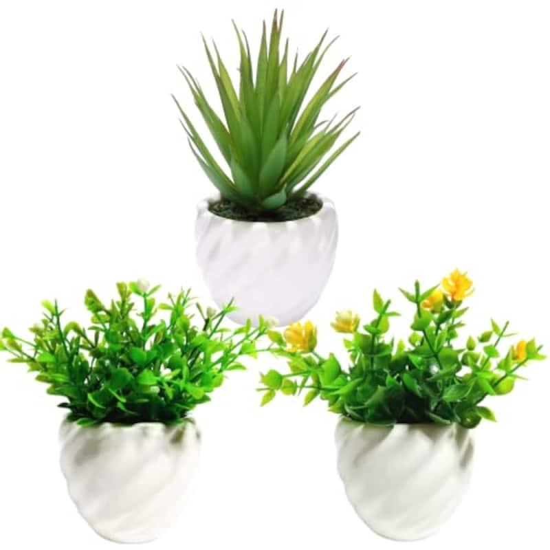fleurmelody,人工観葉植物 3個セット, Ph-03-EF