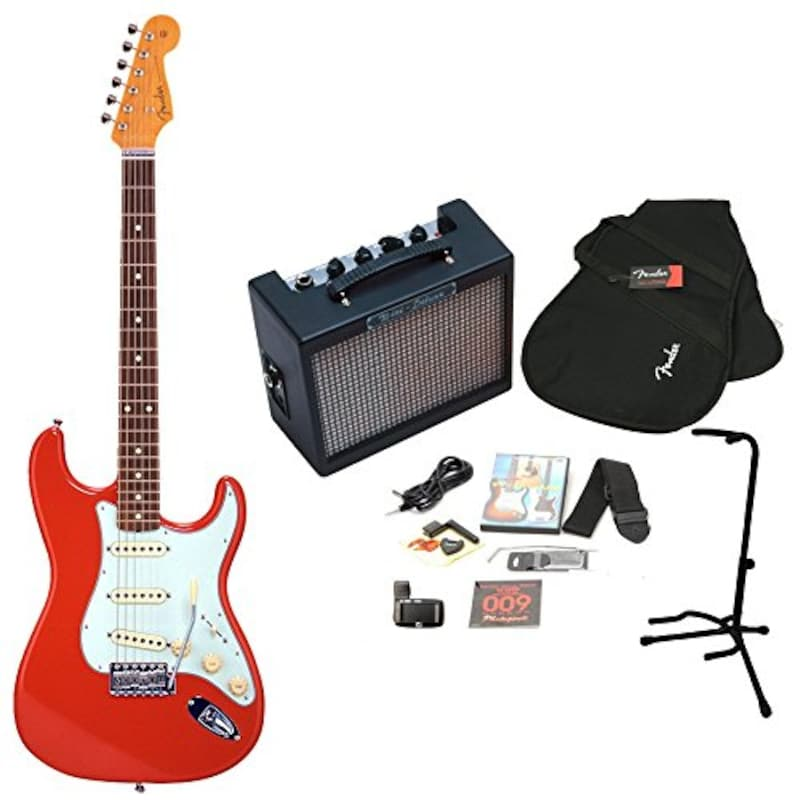 Fender,Japan Exclusive Classic 60s Stratocaster Fiesta Red + MD-20 MINI DELUXEアンプ17点セット