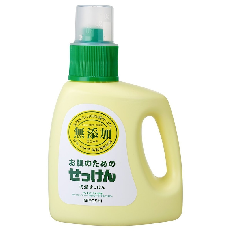 ミヨシ石鹸,無添加 お肌のための洗濯用液体せっけん 1.2L