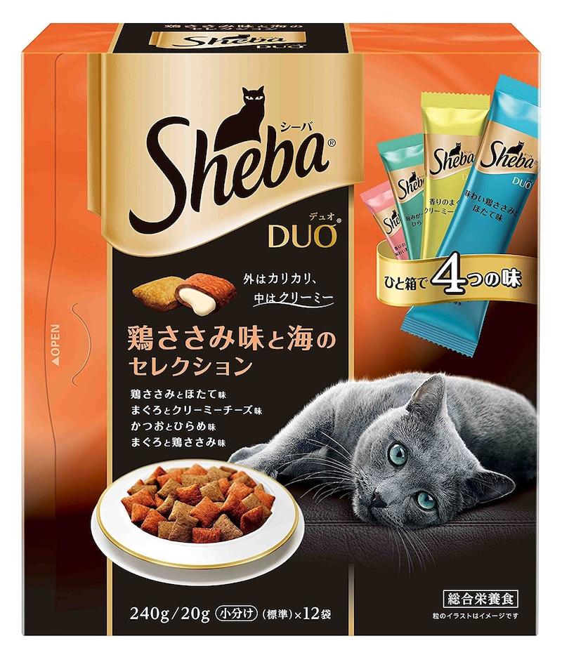 マースジャパン,シーバ デュオシリーズ 鶏ささみ味と海のセレクション 成猫用