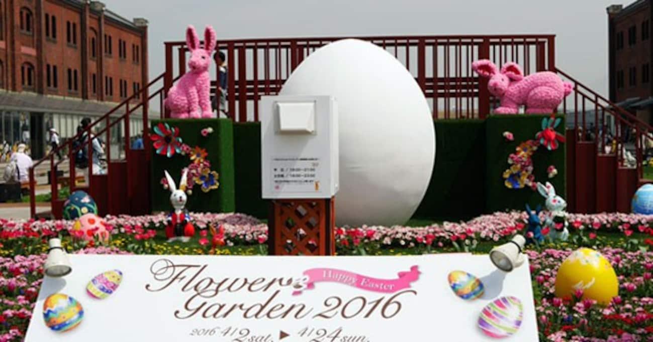横浜赤レンガ倉庫のお花畑でウサギが遊ぶ!? 「FLOWER GARDEN 2016」