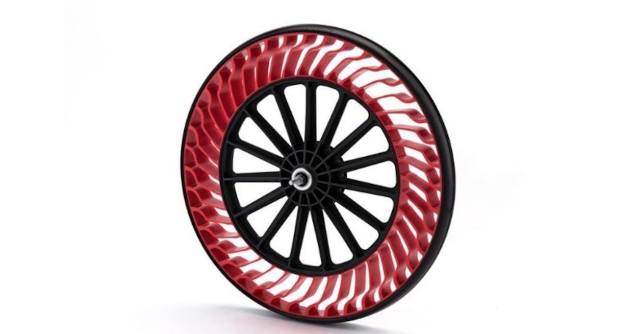 パンクせず、空気の充填も不要! ブリヂストンが開発を進める斬新なデザインの次世代タイヤ