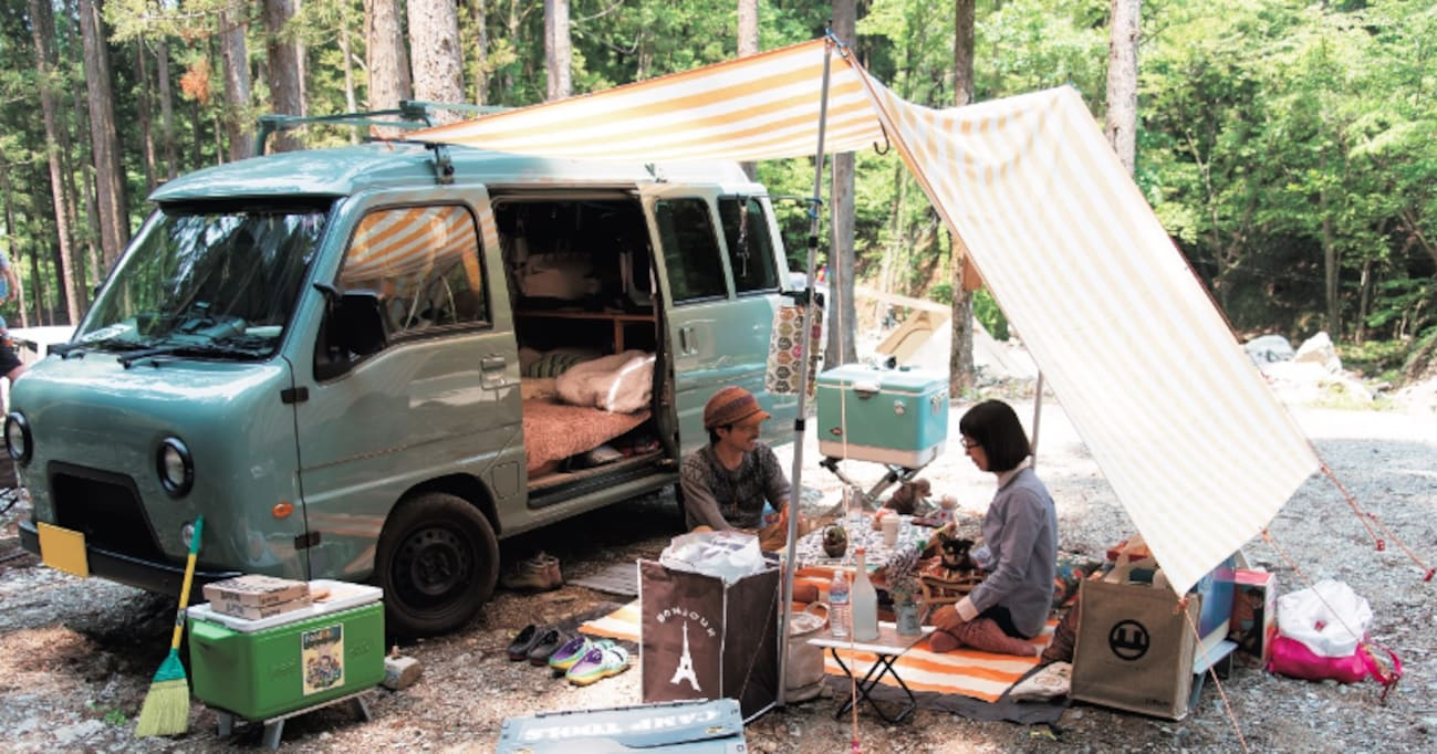 キャンプがもっと快適に!? クルマを駆使したこだわりテントサイト7例。