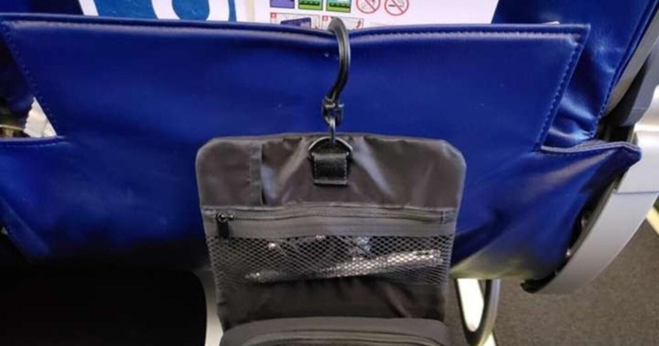 無印良品の「吊るせるケース」が飛行機の座席周りで大活躍でした